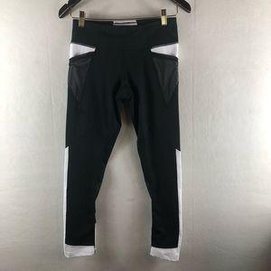Zella small legging crop black and white mesh